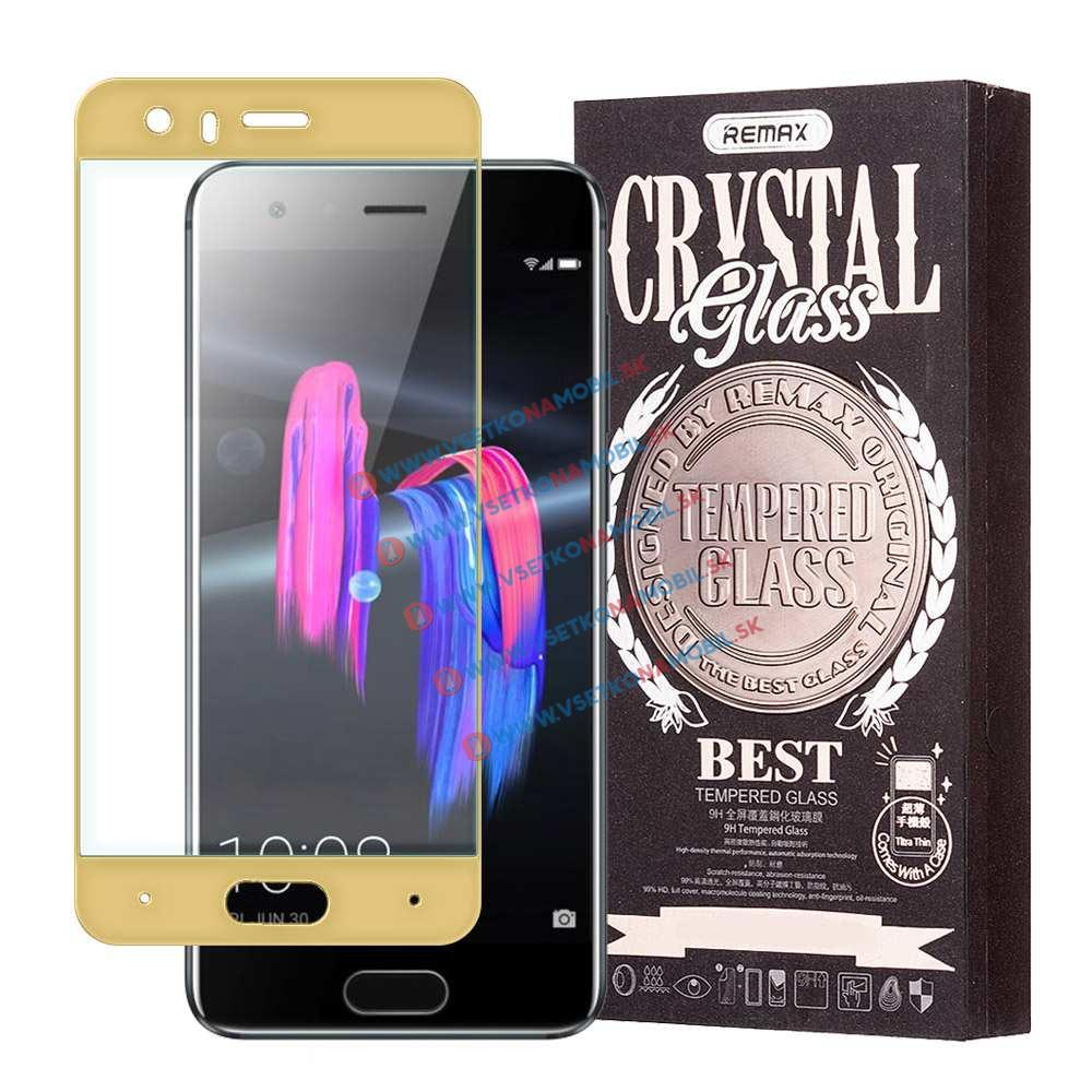 REMAX Priehľadný obal + 3D ochranné sklo Honor 9 zlaté