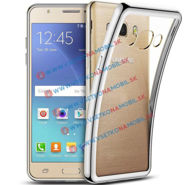 FORCELL METALLIC Silikónový obal Samsung Galaxy J5 2016 strieborný