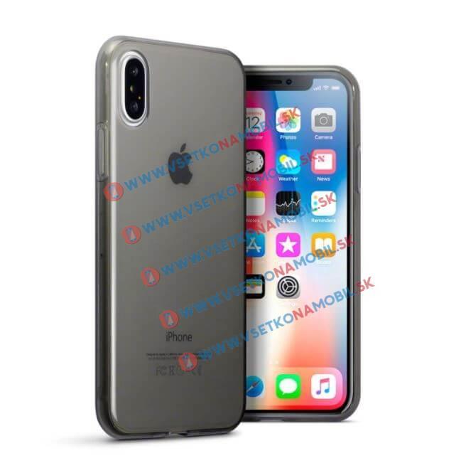Levně FORCELL Silikonový obal Apple iPhone X šedý
