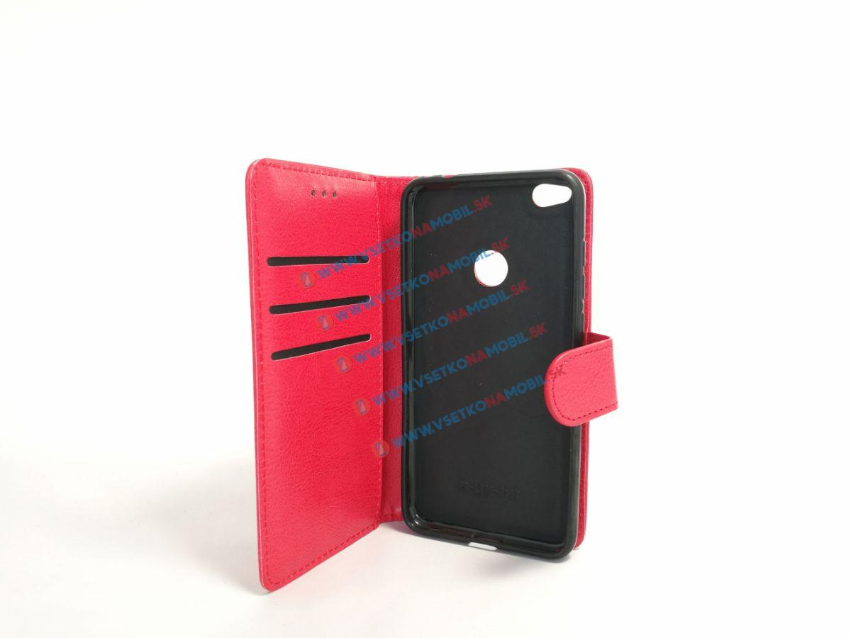 LEATHER FLIP 2v1 Huawei P9 Lite 2017 červený