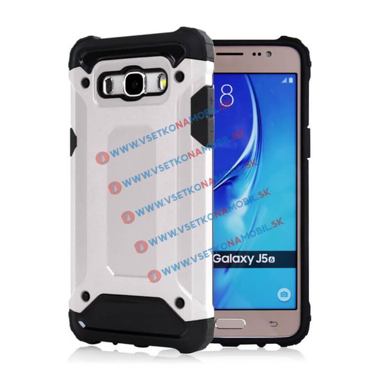 TOUGH Ochranný kryt Samsung Galaxy J5 2016 (J510) strieborný