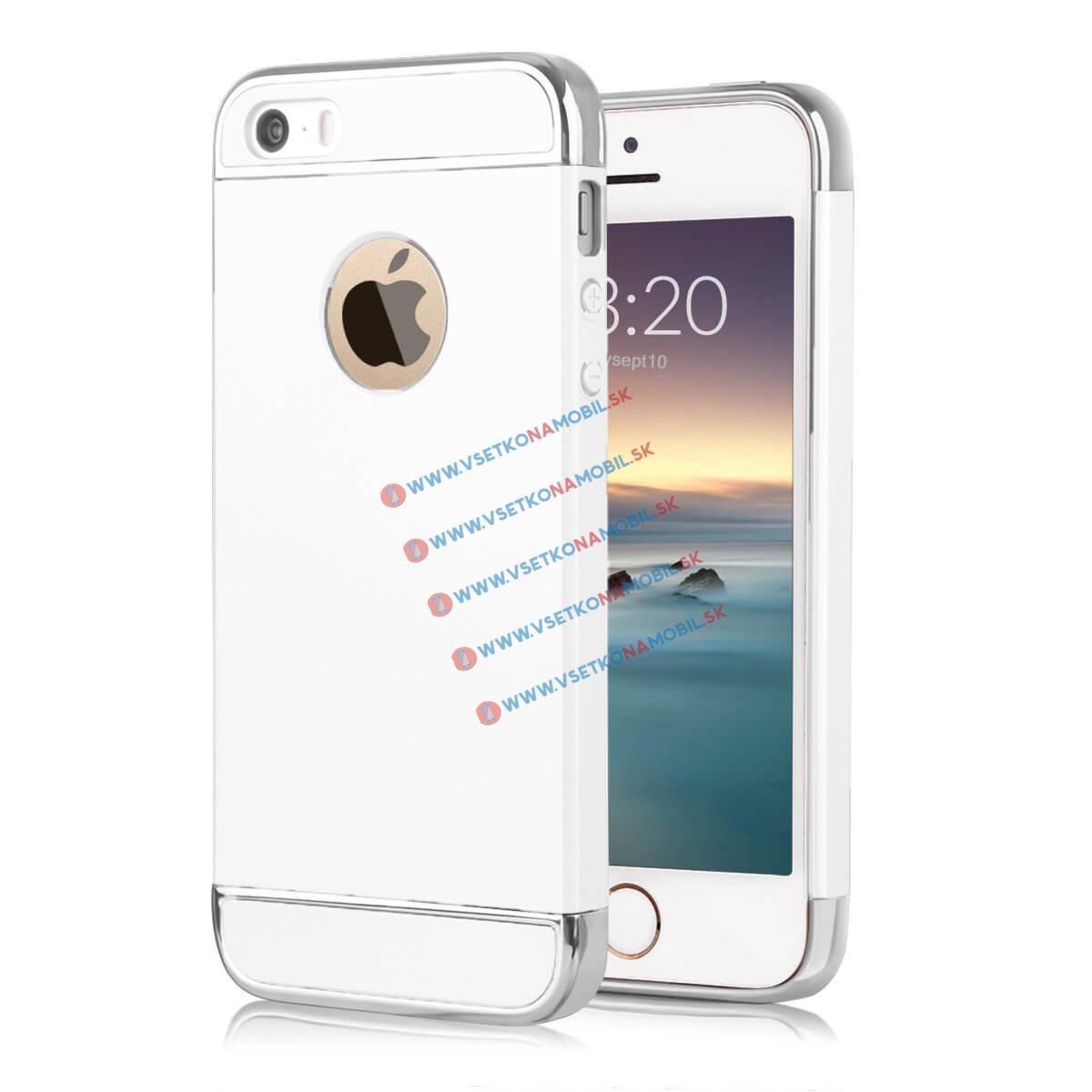 ForCell 3v1 Ochranný obal Apple iPhone 5 / 5S / SE bílý