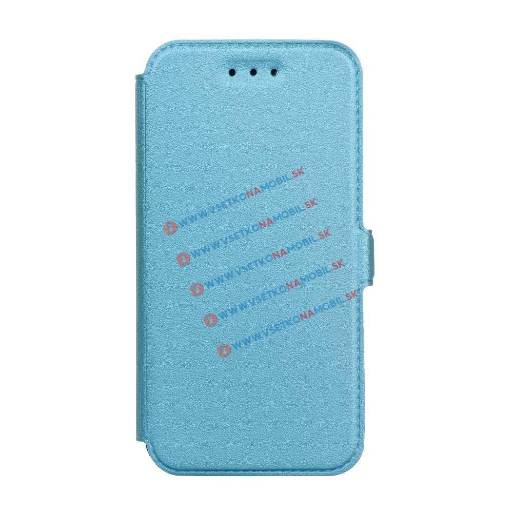 SMOOTH Ultratenký flip obal Huawei P10 Lite modrý