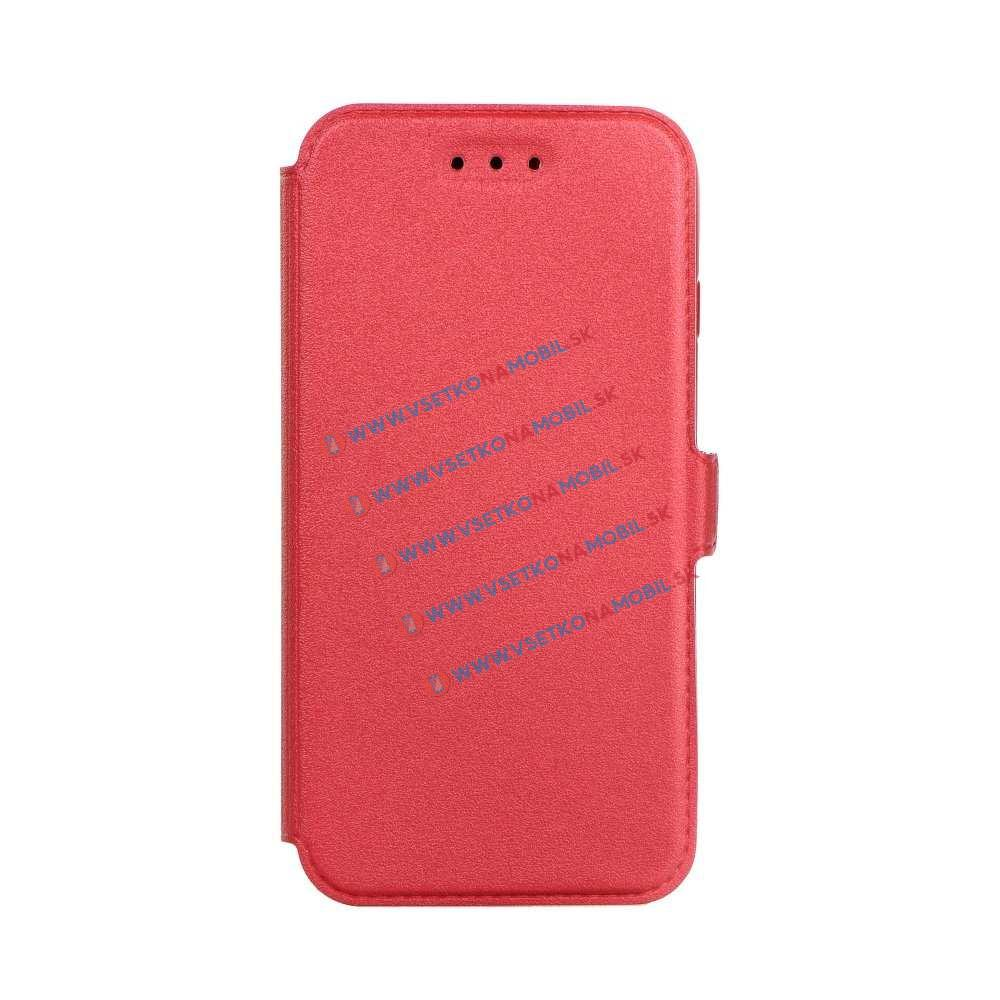 SMOOTH Ultratenký flip obal Samsung Galaxy A3 2017 (A320) červený