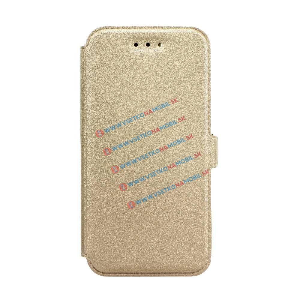 SMOOTH Ultratenký flip obal Samsung Galaxy J5 2017 (J530) zlatý