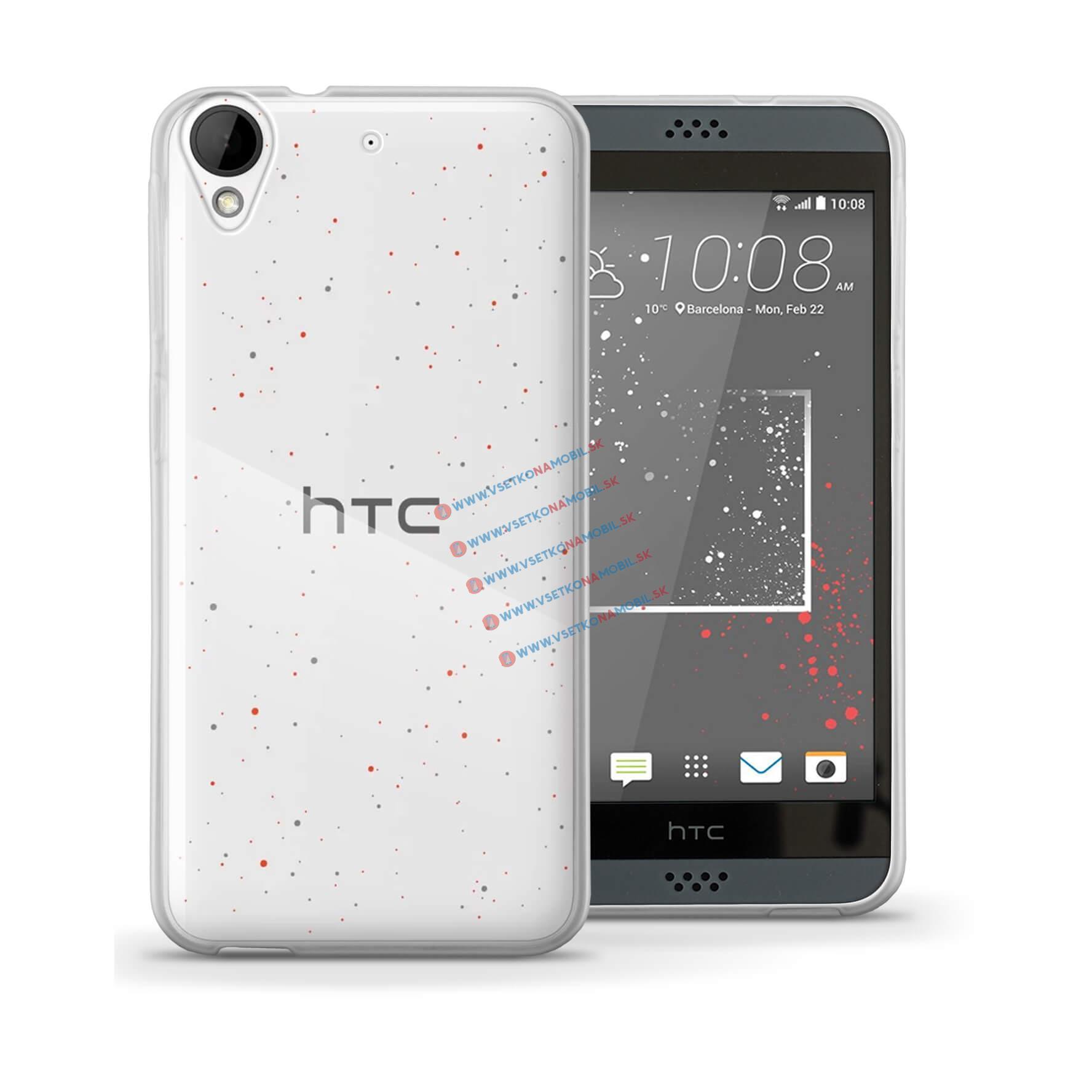 FORCELL Silikónový obal HTC Desire 530 / HTC Desire 630 priehľadný