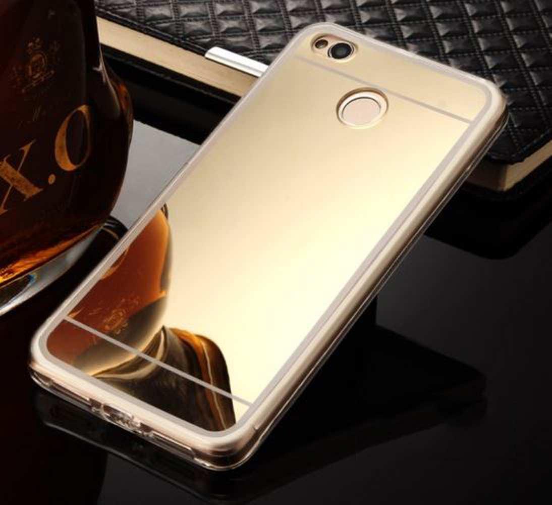FORCELL Zrkadlový silikónový obal Xiaomi Redmi 4X zlatý