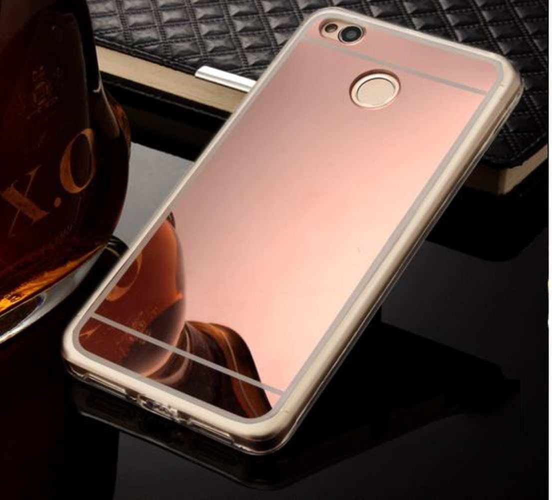 FORCELL Zrkadlový silikónový obal Xiaomi Redmi 4X ružový