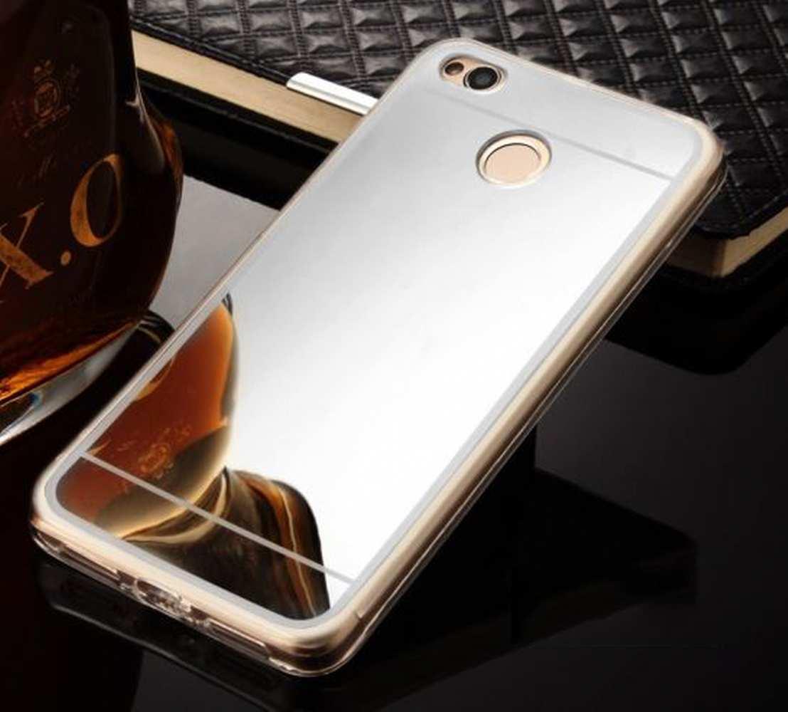 FORCELL Zrkadlový silikónový obal Xiaomi Redmi 4X strieborný