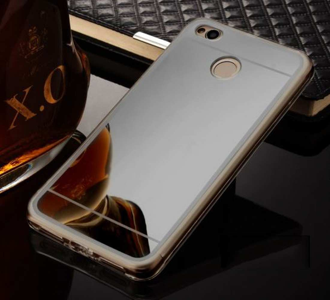 FORCELL Zrkadlový silikónový obal Xiaomi Redmi 4X čierny