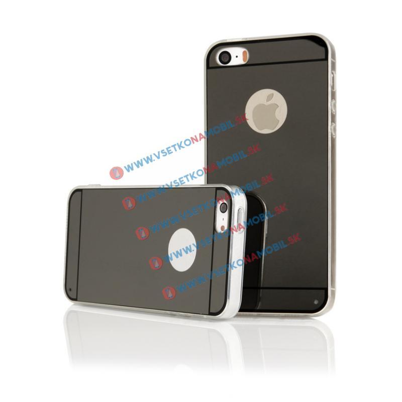 FORCELL Zrcadlový silikonový obal iPhone 5 / 5S / SE černý