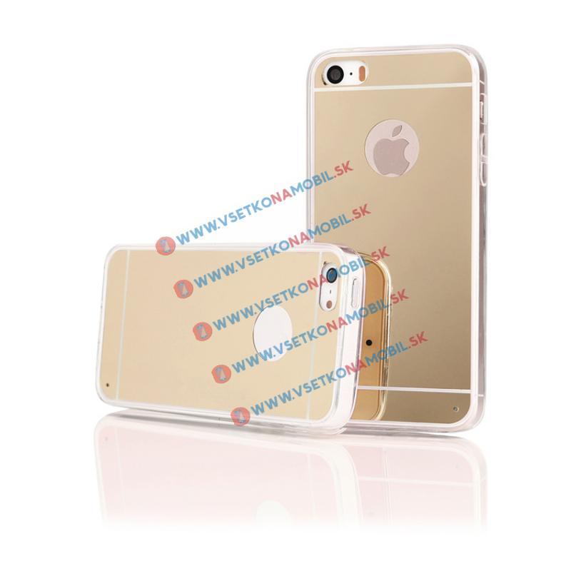 FORCELL Zrcadlový silikonový obal iPhone 5 / 5S / SE zlatý