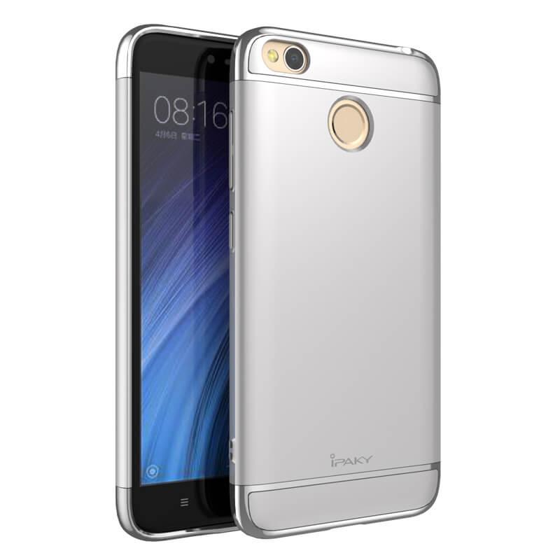 IPAKY 3v1 Ochranný obal Xiaomi Redmi 4X stříbrný
