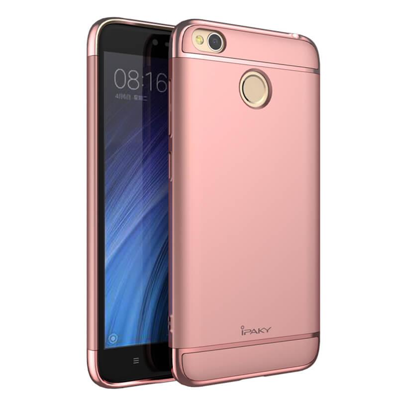 IPAKY 3v1 Ochranný obal Xiaomi Redmi 4X růžový