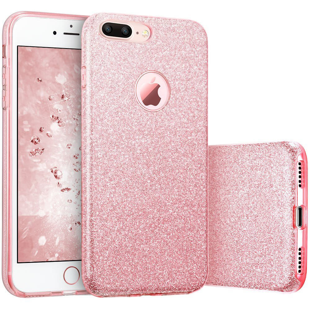FORCELL SHINING Ochranný obal Apple iPhone 7 Plus   iPhone 8 Plus růžový 0d402aec54b