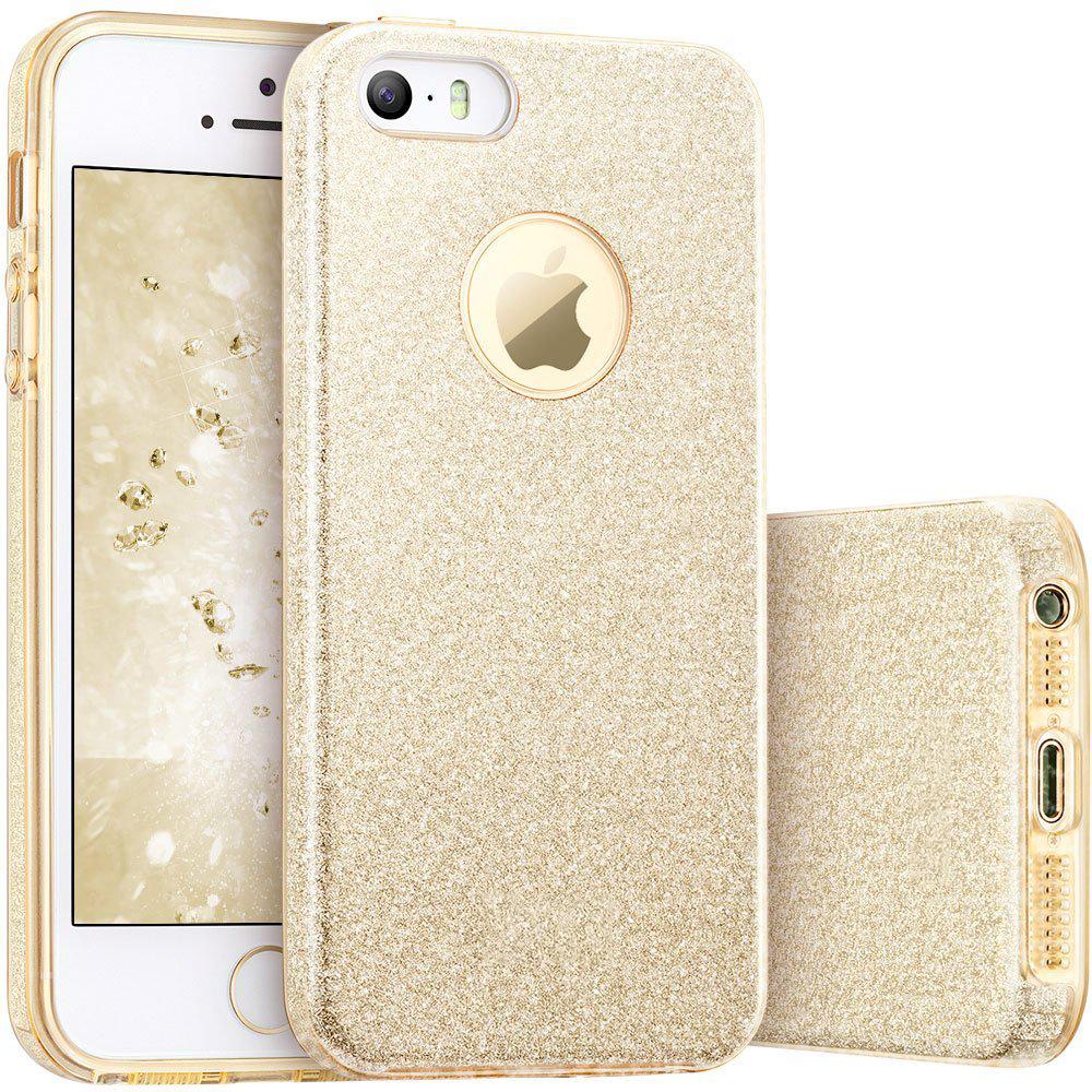 FORCELL SHINING Ochranný obal Apple iPhone 5 / 5S / SE zlatý