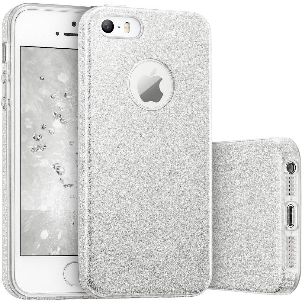 FORCELL SHINING Ochranný obal Apple iPhone 5 / 5S / SE stříbrný