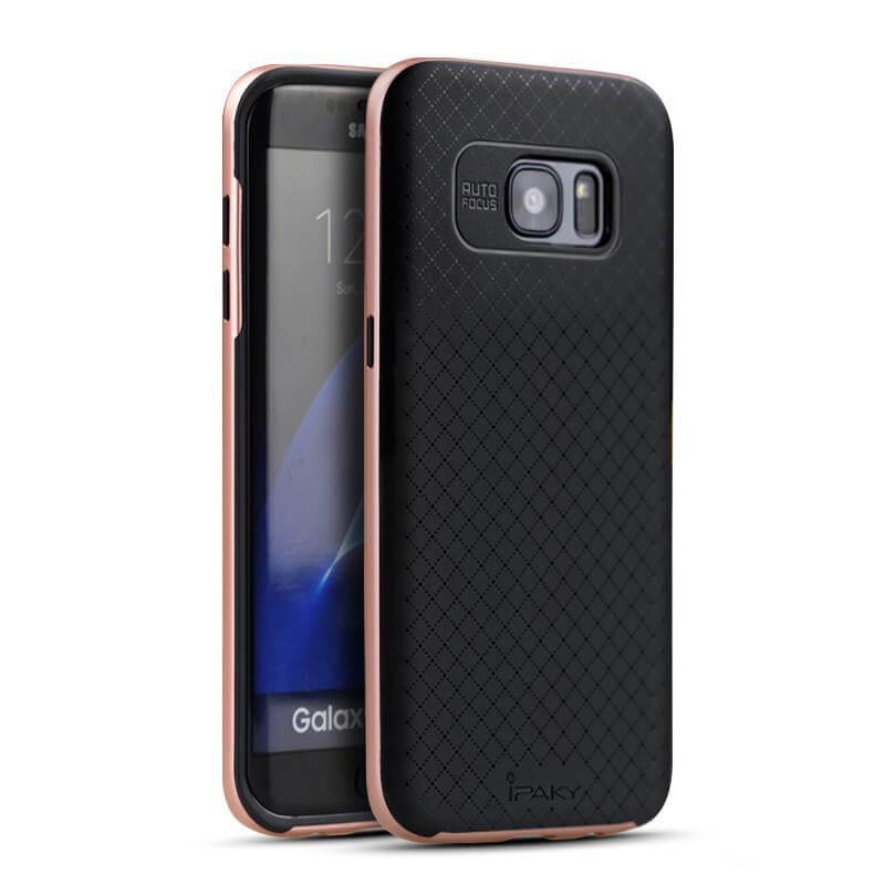 IPAKY BUMBLEBEE obal Samsung Galaxy S7 Edge růžový