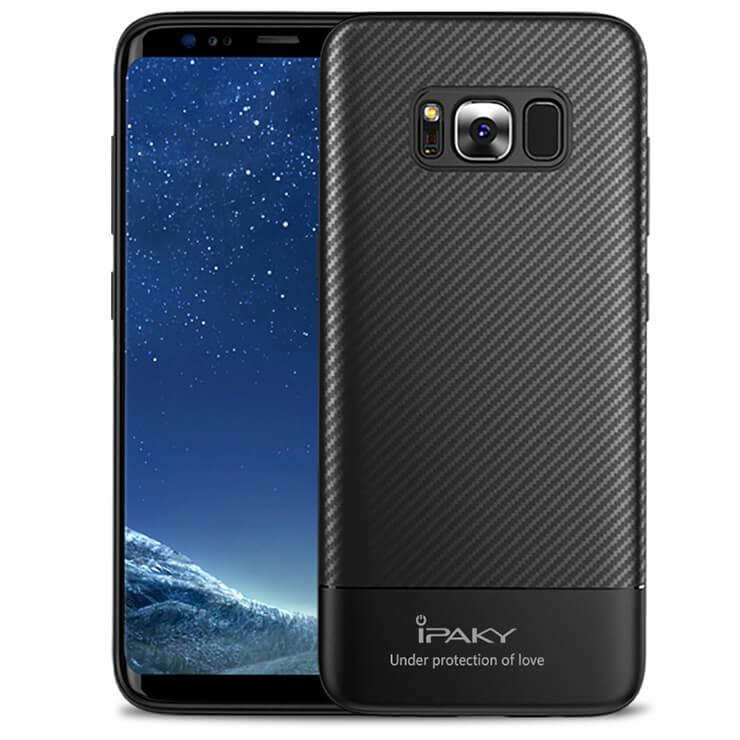 IPAKY CARBON Samsung Galaxy S8 Plus černý