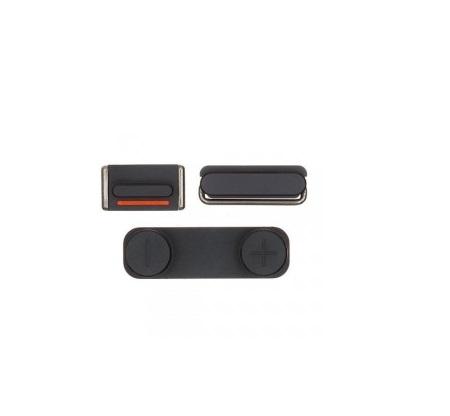 UNBRANDED Set tlačítek Apple iPhone 5S - černé
