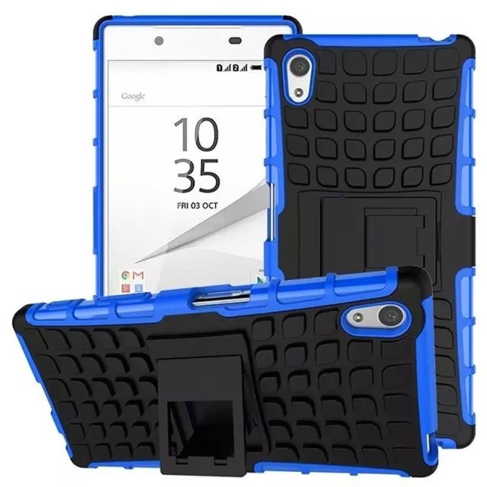 STAND Extra odolný obal Sony Xperia Z5 Premium modrý