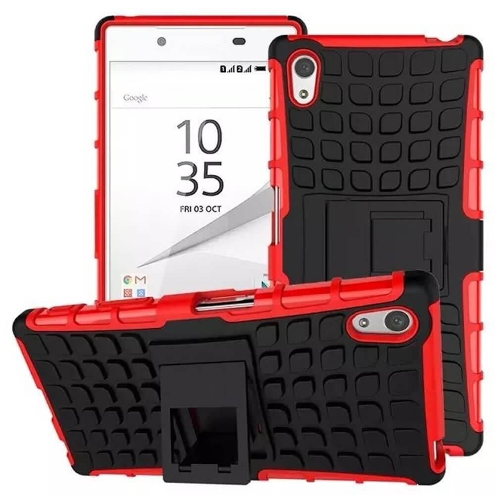 STAND Extra odolný obal Sony Xperia Z5 Premium červený