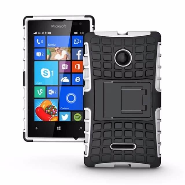 STAND Extra odolný obal Lumia 435 bílý