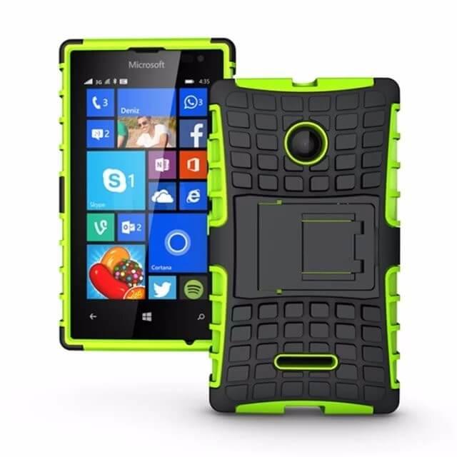 STAND Extra odolný obal Lumia 435 zelený