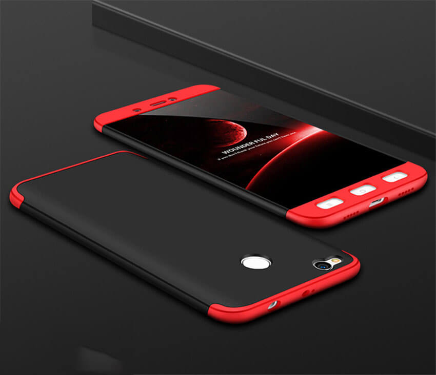 FORCELL 360° Ochranný obal Xiaomi Redmi 4X červeno-čierny