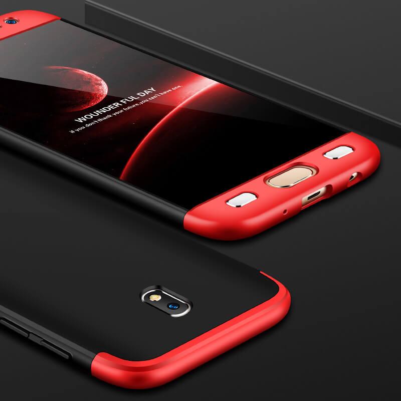 FORCELL 360° Ochranný obal Samsung Galaxy J3 2017 (J330) červeno-čierny