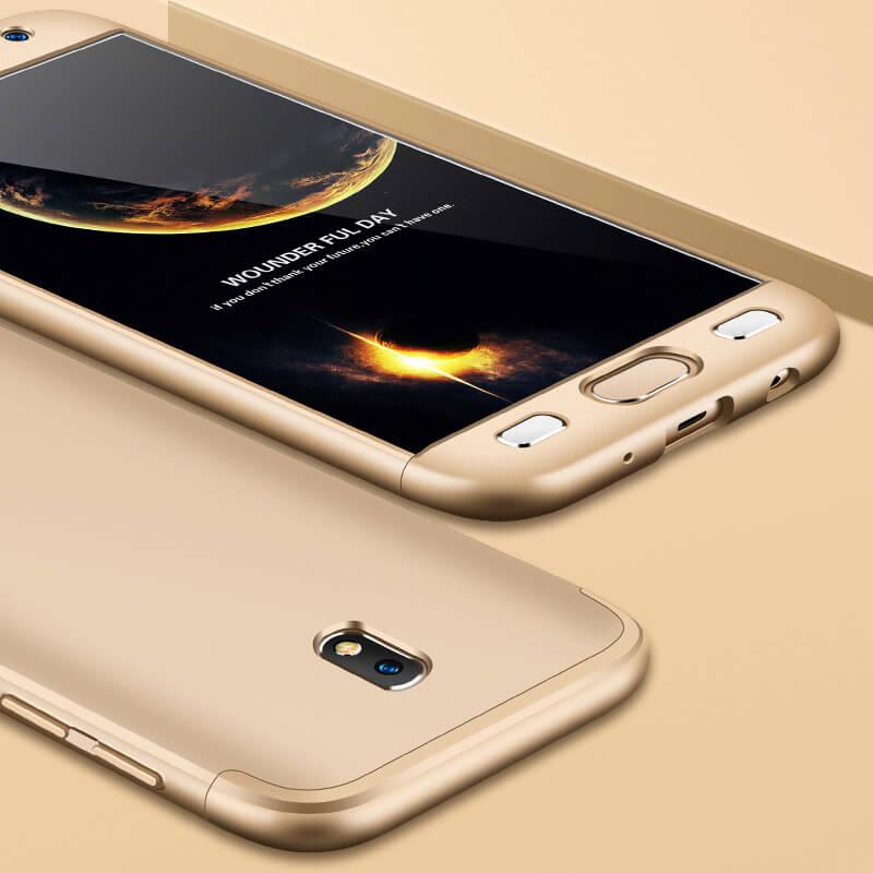 FORCELL 360° Ochranný obal Samsung Galaxy J7 2017 (J730) zlatý