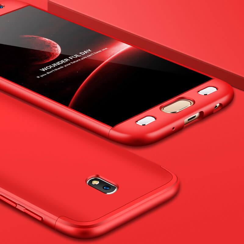 FORCELL 360° Ochranný obal Samsung Galaxy J7 2017 (J730) červený