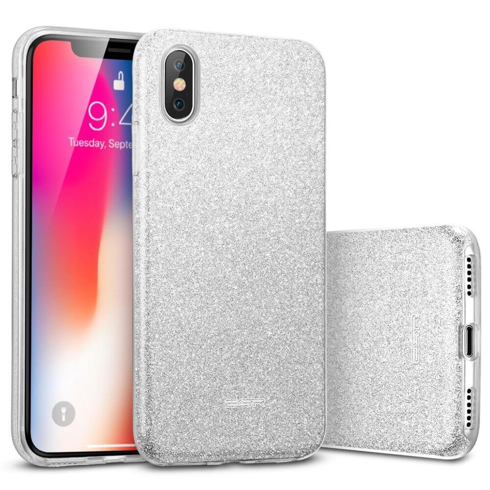 FORCELL SHINING Ochranný obal Apple iPhone XS Max stříbrný