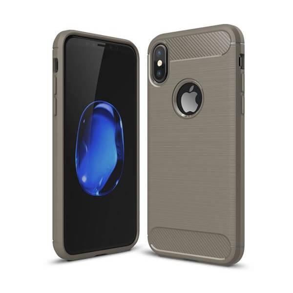 IPAKY SLIM CARBON obal Apple iPhone X šedý