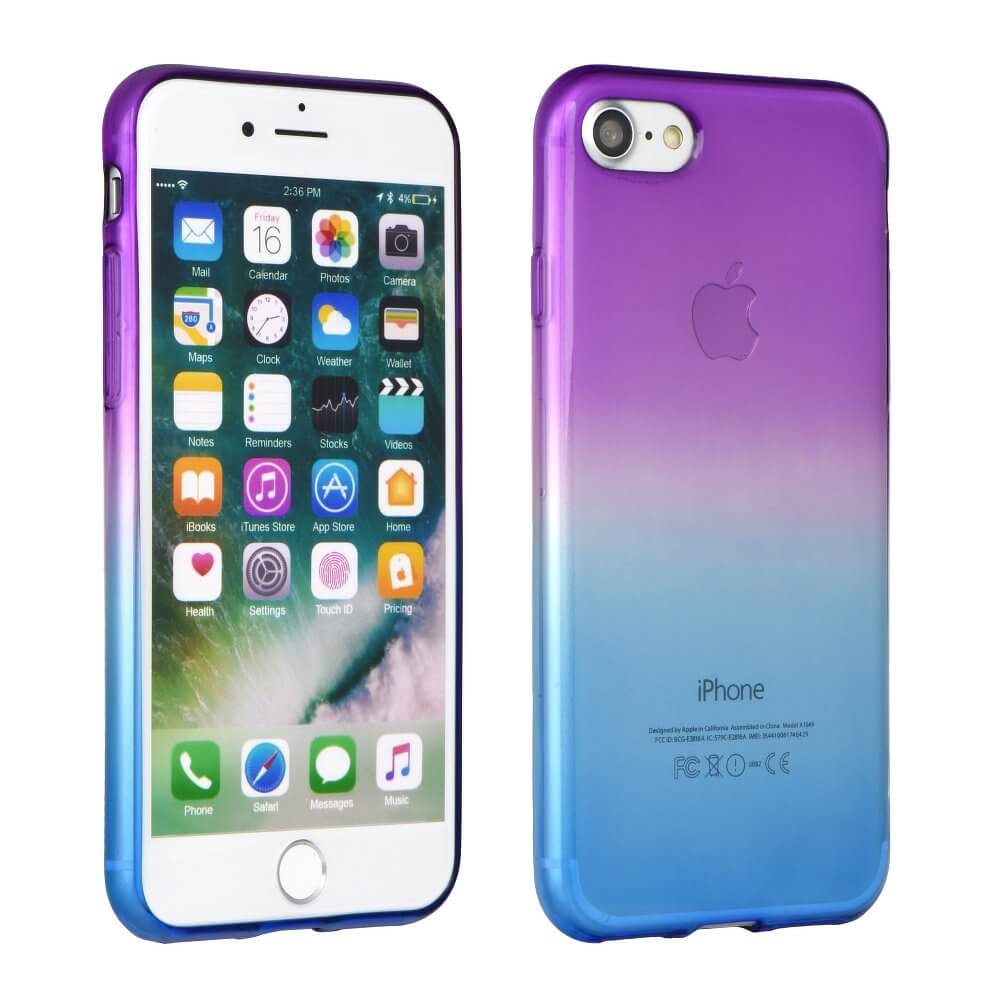FORCELL OMBRE obal Apple iPhone 7 / iphone 8 fialový