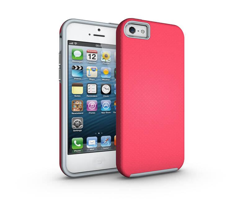 FORCELL HYBRID odolný kryt Apple iPhone 5   5S   SE růžový af169d90191
