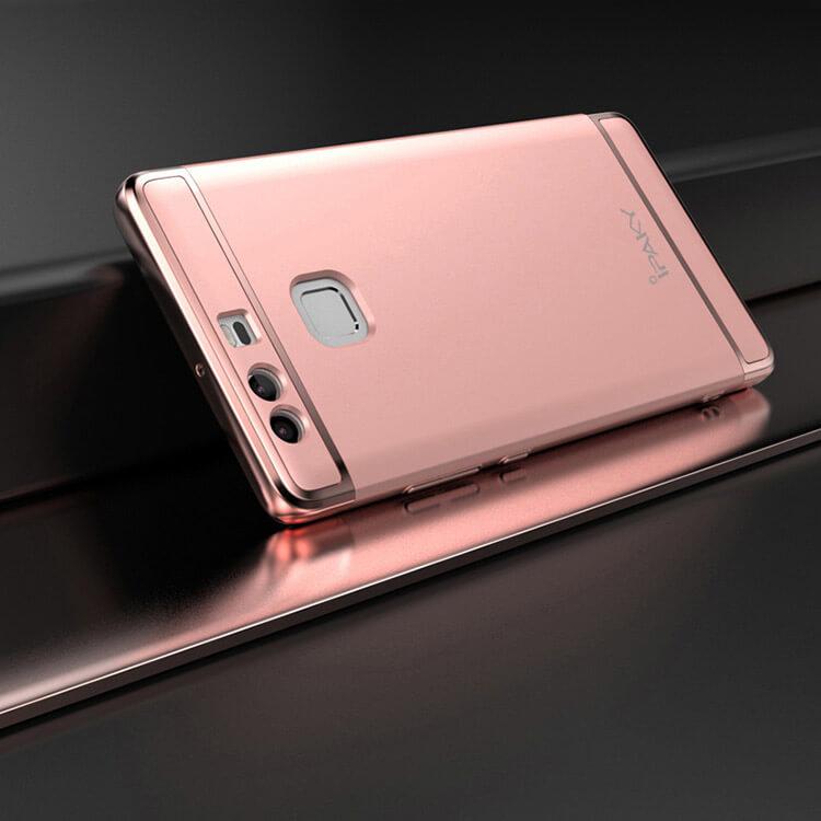 IPAKY 3v1 Ochranný obal Huawei P9 ružový
