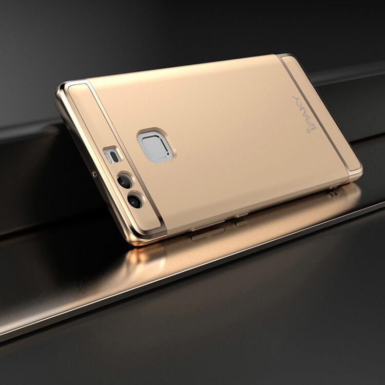 IPAKY 3v1 Ochranný obal Huawei P9 zlatý