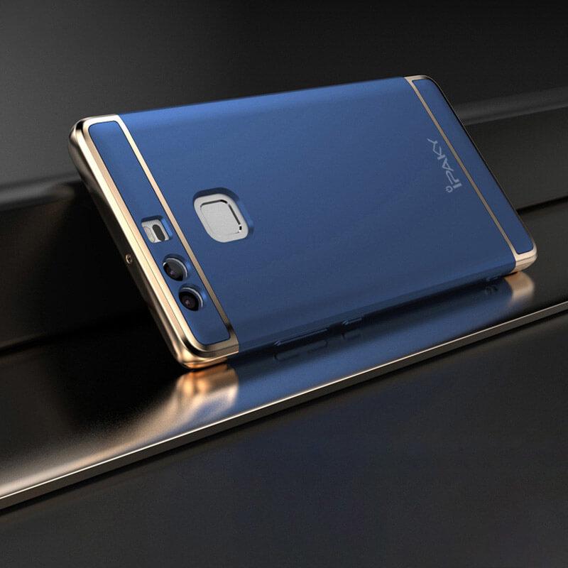 IPAKY 3v1 Ochranný obal Huawei P9 modrý