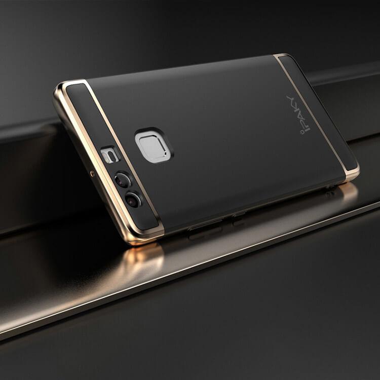 IPAKY 3v1 Ochranný obal Huawei P9 čierny