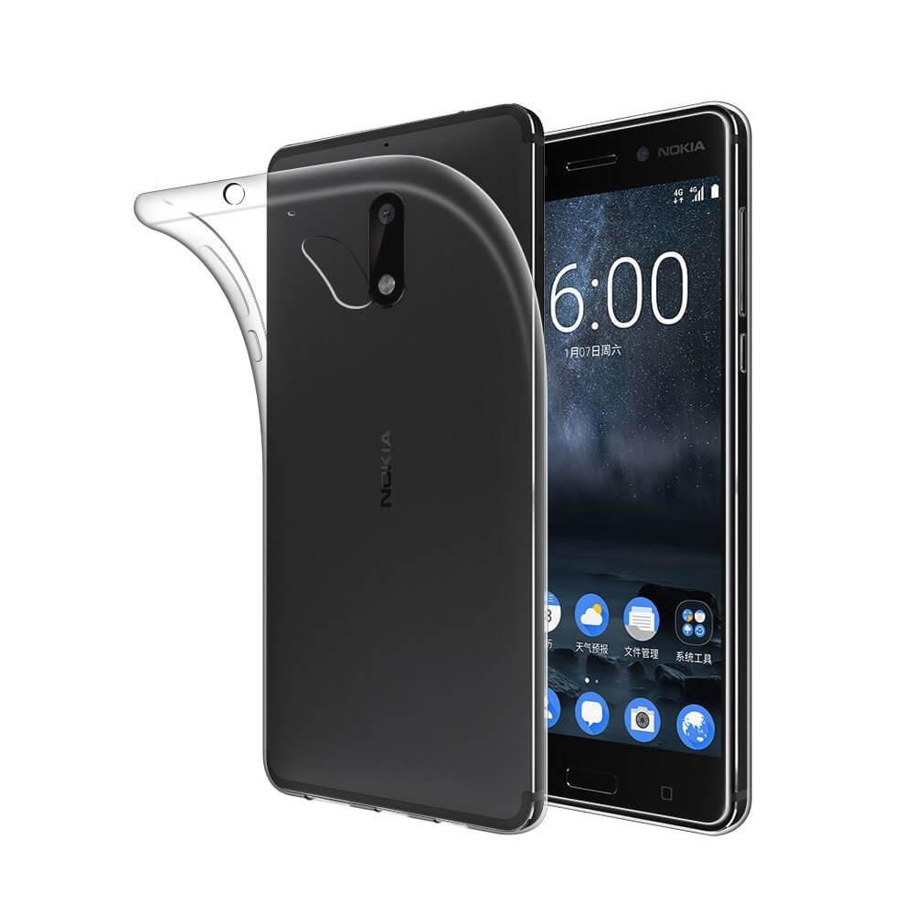 FORCELL Silikonový obal Nokia 6 průhledný a8ea9bc1b21