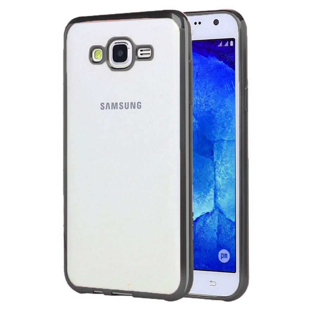FORCELL METALLIC Silikónový obal Samsung Galaxy J5 2015 (J500) čierny