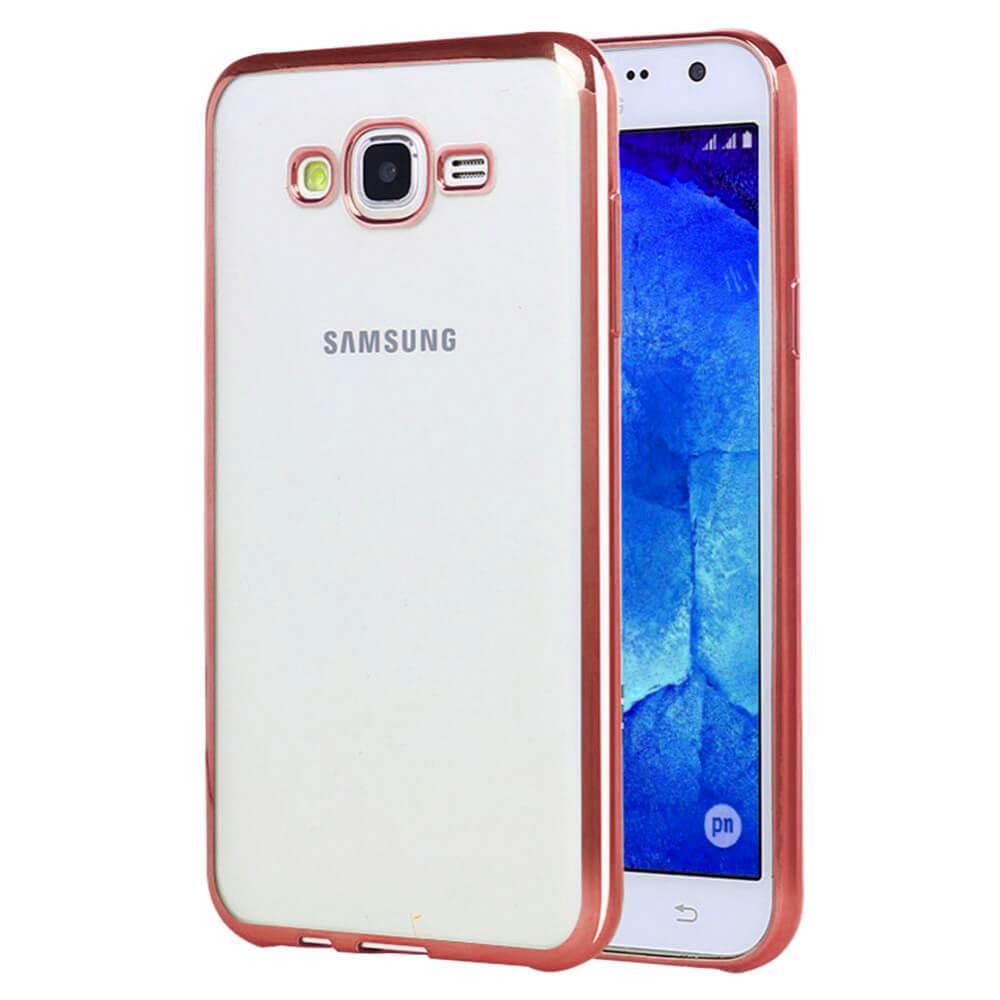 FORCELL METALLIC Silikónový obal Samsung Galaxy J5 2015 (J500) ružový