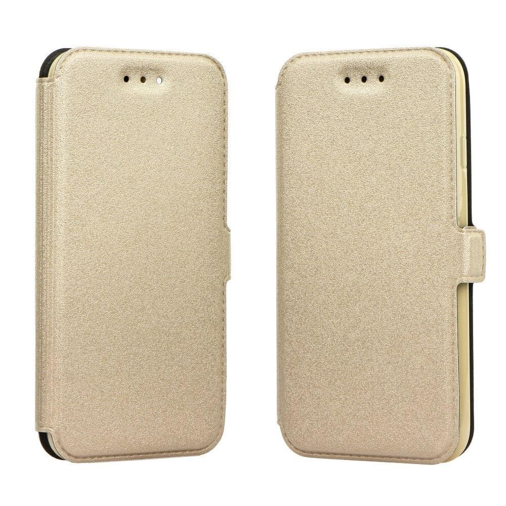 FORCELL SMOOTH Peňaženkový obal Samsung Galaxy J3 2016 zlatý
