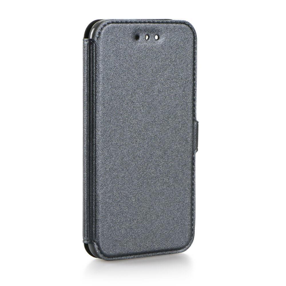 SMOOTH Peňaženkový obal Samsung Galaxy J3 2016 šedý