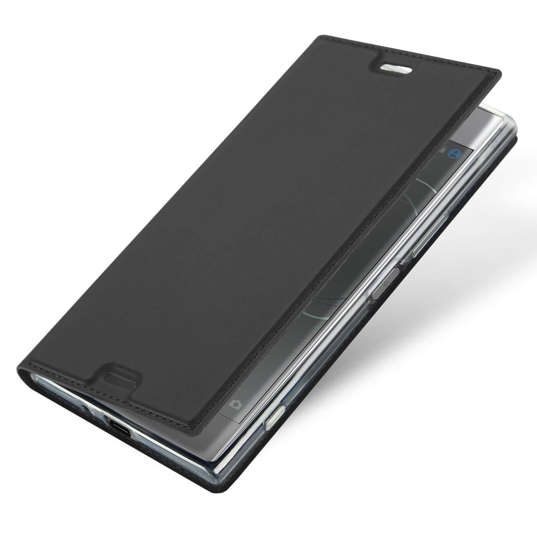 FORCELL DUX Flipové púzdro Sony Xperia XZ1 šedé