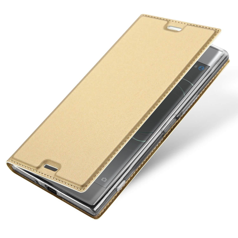 FORCELL DUX Flipové púzdro Sony Xperia XZ1 zlaté