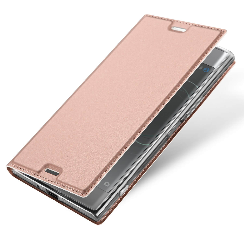 FORCELL DUX flipové pouzdro Sony Xperia XZ1 růžové