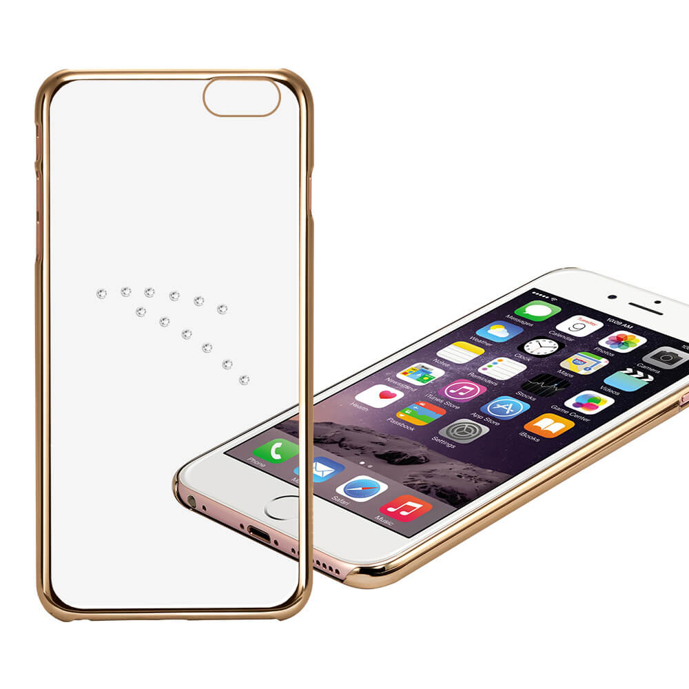 X-FITTED SWAROVSKI obal Apple iPhone 6 / 6S zlatý (0001)