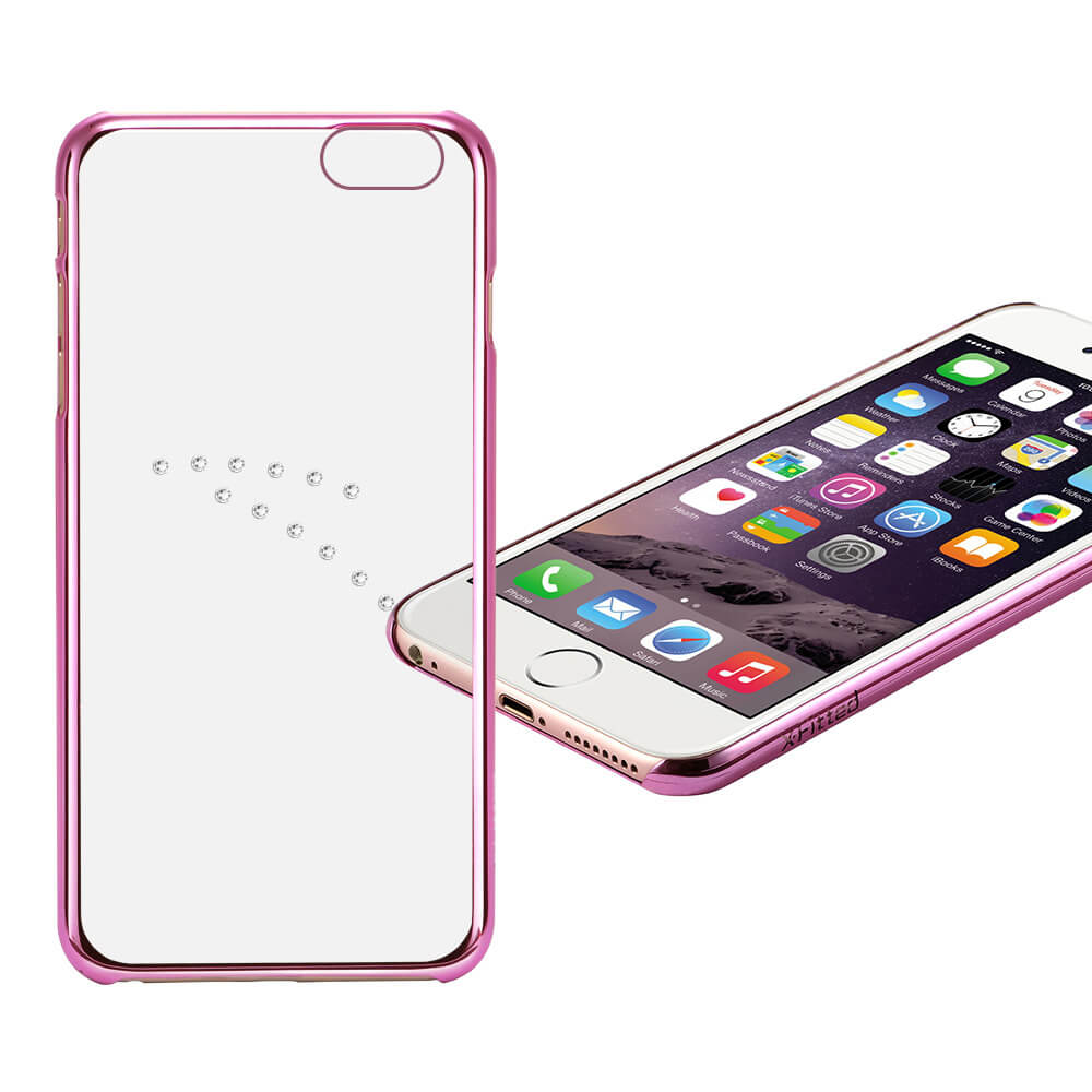 X-FITTED SWAROVSKI obal Apple iPhone 6 / 6S ružový (0003)